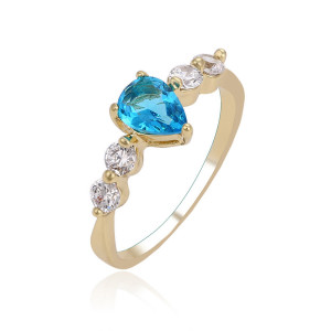 "Inel 14 K ""Blue Heart"""