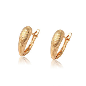Earrings plated with 18 K gold
