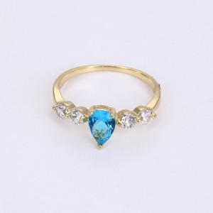 """Inel 14 K """"Blue Heart"""""""