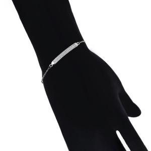 Rhodiniertes Armband