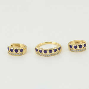 Schmuck-Set mit Ring und Ohrringen