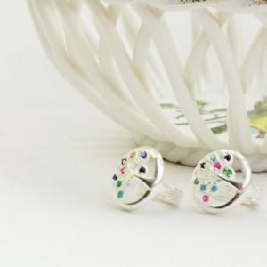 925 Tree silver earrings