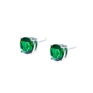Stub earrings platet with rhodium
