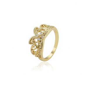 """14 K gold plated ring """"Crown Jewel"""""""