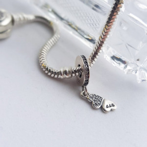 925 silver charm - Sue
