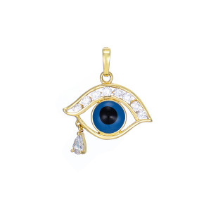 "Pandantiv placat cu 14 K ""Eye of the Tiger"""