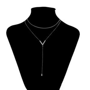 Rhodinierte Halskette