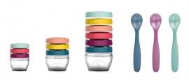 Babymoov –Multi set pentru diversificare: 3 seturi recipiente + un set linguri