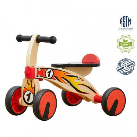Bicicleta din lemn fara pedale
