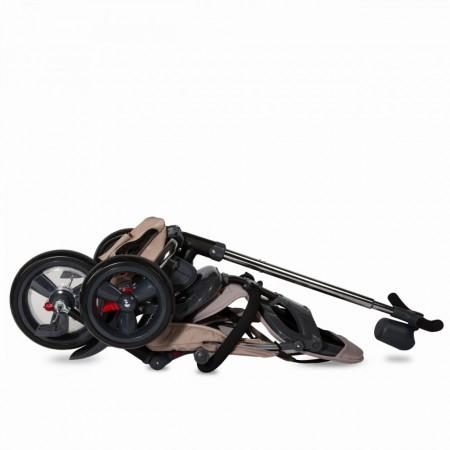 Tricicleta multifunctionala 4in1 cu sezut reversibil Coccolle Velo Bej