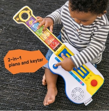 Baby Einstein - Jucarie muzicala 2 in 1 chitara si pian Flip & Riff Keytar