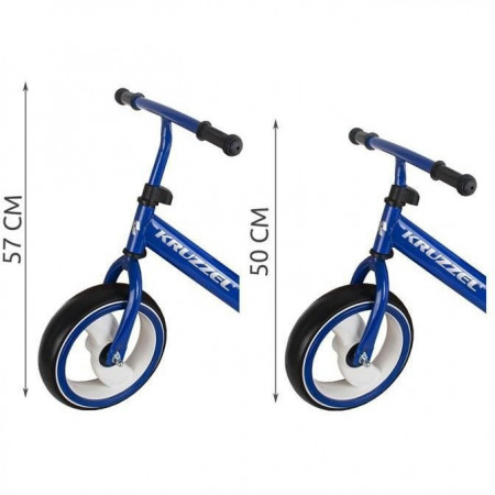 Bicicleta fara pedale, 12 inch, cu lumini LED Kruzzel MY2834