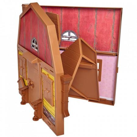 Casuta pliabila cu 2 nivele pentru papusi Simba Masha and The Bear cu papusa Masha si accesorii