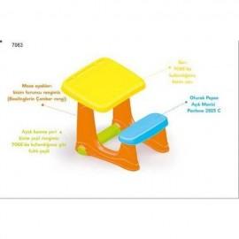 Masuta de studiu cu scaun - Colorata