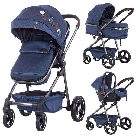 Carucior Chipolino Noah 3 in 1 blue denim