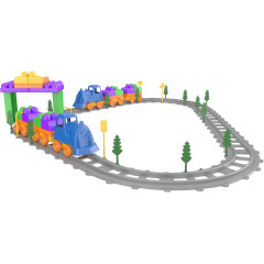 Set Tren 93 piese Magic Blocks Ucar Toys UC74