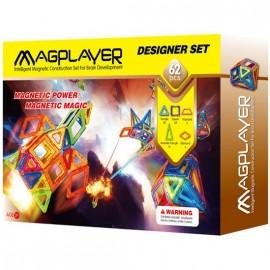 Joc de constructie magnetic - 62 piese