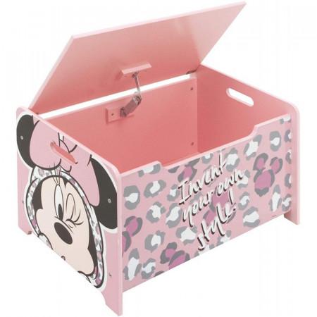 Ladita din lemn pentru depozitare jucarii Minnie Mouse