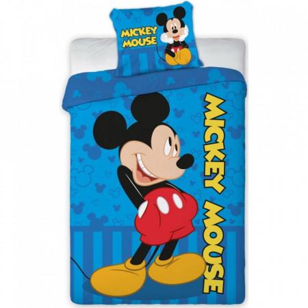 Set lenjerie pat copii Mickey Mouse 100x135 + 40x60 SunCity FRA576470