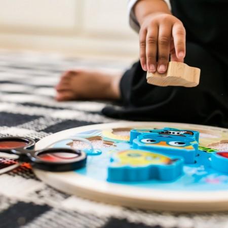 Baby Einstein - Jucarie de lemn Hape Submarine Adventure Puzzle™