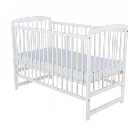 BabyNeeds - Patut din lemn Ola 120x60 cm, Alb