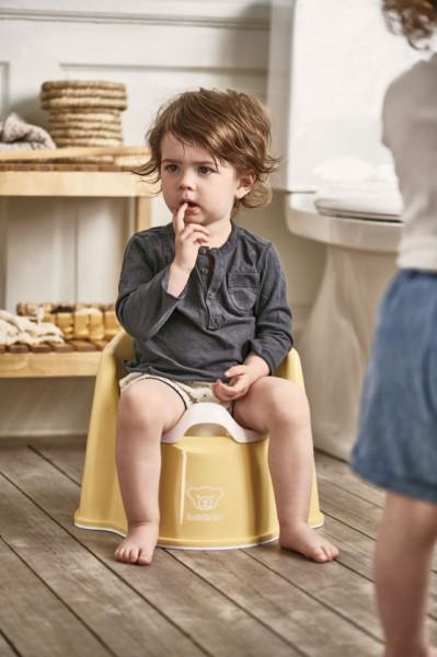 BabyBjorn - Olita cu protectie spate Potty Chair Powder Yellow/white