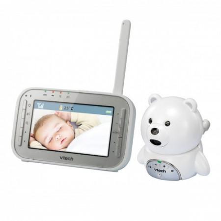 Vtech - Videointerfon digital bidirectional 4,3 inch BM4200, include melodii si termometru