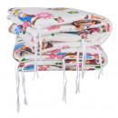 Babyneeds - Set aparatori pat, 120x60 cm, Bufnitele vesele, Alb