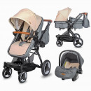Carucior transformabil 3in1 Coccolle Ambra Safari Beige 2021