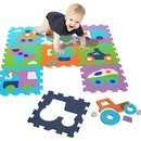 Covor puzzle din spuma Vehicles 9 piese