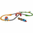 Set Fisher Price by Mattel Thomas and Friends 3 in 1 cu sina, vagoane si locomotiva motorizata