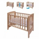 Patut co-sleeping 85x48 cm cu laterala culisanta Dreamy Mini Natur + saltea