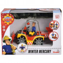ATV Simba Fireman Sam, Sam Mercury Snow Quad cu lama de zapada, figurina Sam si accesorii