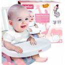 Inaltator scaun masa pliabil si portabil Smily Play roz