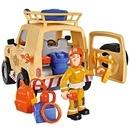 Masina Simba Fireman Sam Tom`s 4x4 cu 1 figurina si accesorii