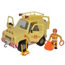 Masina Simba Fireman Sam, Toms 4x4 cu 1 figurina si accesorii