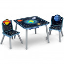 Set masuta multifunctionala si 2 scaunele Space Adventures