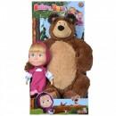 Set Simba Masha and The Bear papusa Masha 23 cm si ursulet de plus 43 cm