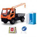 Camion Dickie Toys Playlife M.T. Ladog Service Set cu figurina si accesorii