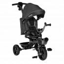 Lionelo - Tricicleta Kori Grey Stone Suport picioare, Control al directiei, Scaun reversibil, Rotire 360 grade, Pliabila