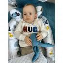 MimiNu - Set 4 in 1 Cosulet bebelus Baby Cocoon 90x50 cm, 1 perna, 1 paturica si o saltea cu doua fete, Childrens Journey Grey