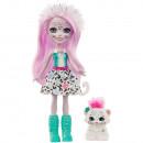 Papusa Enchantimals by Mattel Sybill Snow Leopard cu figurina Flake