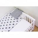 Patut co-sleeping 85x48 cm cu laterala culisanta Dreamy Mini Alb + saltea