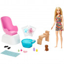 Set Barbie by Mattel Wellness and Fitness Salonul de unghii