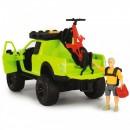 Masina Dickie Toys Playlife Bike Trail Set cu figurina si accesorii