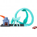 Pista de masini Hot Wheels by Mattel Toxic Scorpion attack cu masinuta