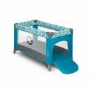 Lionelo - Patut pliant cu un nivel Stefi din Metal, Poliester, 120x60 cm, Turquoise
