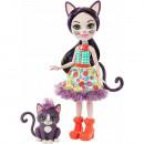 Papusa Enchantimals by Mattel Ciesta Cat cu figurina Climber