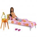 Set Barbie by Mattel Mobilier dormitor cu papusa si accesorii GRG86