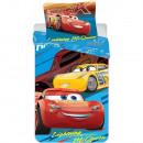 Set lenjerie pat copii Cars Lightning Mcqueen 90x140 + 40x55 SunCity CTL79820A